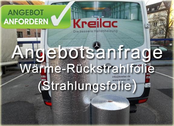 Angebotsanfrage - Waerme-Rueckstrahlfolie / Strahlungsfolie